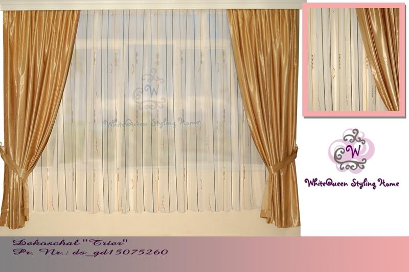 dekoschal vorhang paar edda in sanftem beige. Black Bedroom Furniture Sets. Home Design Ideas
