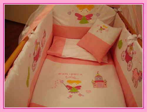 baby bettset die kleine fee rosa 140 x 70. Black Bedroom Furniture Sets. Home Design Ideas