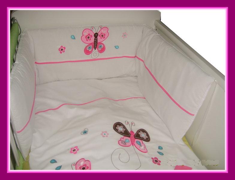 baby bettwaesche schmetterlinge rosa. Black Bedroom Furniture Sets. Home Design Ideas